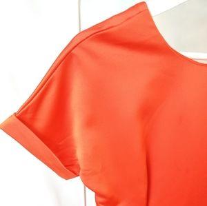 🍁Orange Peel Satin Dress by Zaful